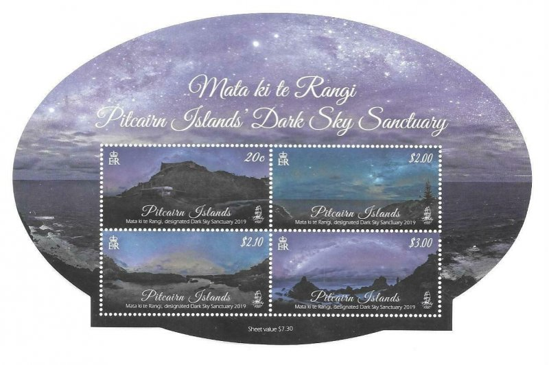2019    PITCAIRN ISLAND -  DARK SKY SANCTUARY   -  MNH
