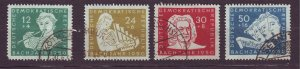 J23273 JLstamps 1950 germany DDR used set #b17-20 music bach
