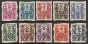 Cameroun 1939 Sc J14-23 Yt T14-23 postage due set MH* disturbed gum