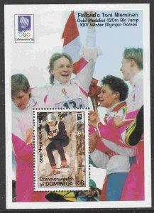 Dominica #1597 s/sheet F-VF Mint NH ** Lillehammer Winter Olympics, ski jump