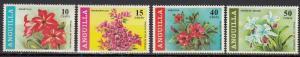 Anguilla - 1969 Flowers Sc# 70/73 - MNH (454N)