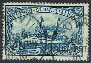 GERMAN SOUTH WEST AFRICA 1901 YACHT 2MK NO WMK USED