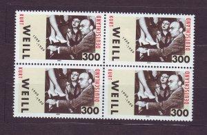J23395 JLstamps 2000 germany set of 1 blk 4 mnh #2071 music composer
