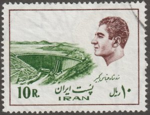 Persian stamp, Scott# 1838, Used, hinged, Shah in brown