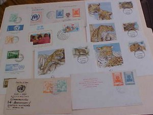 AFGHANISTAN 10 DIFF. FDC 1958-1985 TWO ARE CARDS CACHET UNADDRESSED