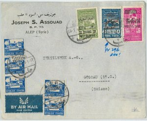 58941 - SYRIA - POSTAL HISTORY: OVERPRINTED REVENUE STAMPS on COVER 1940