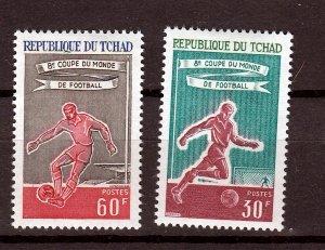 J26935 1966 chad mh set #129-30 sports
