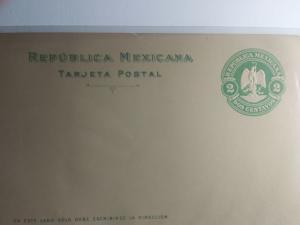 1910 MEXICAN POST CARD MINT  REPUBLICA MEXICANA DOS CENTAVOS 1910 AMAZING !!