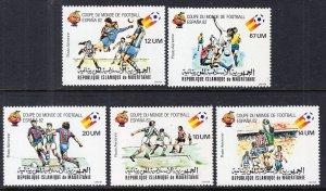Mauritania C196-C200 Soccer MNH VF
