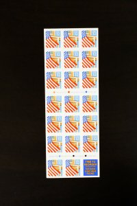 US Stamps # 2920 Small Date Pane of 20 P.O. Fresh