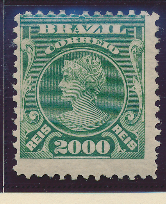 Brazil Stamp Scott #186, Mint Hinged, Half Original Gum - Free U.S. Shipping,...