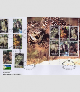 Birds of Prey Set + Sheet Perforated in official FDC