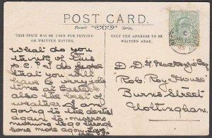 GB 1905 postcard of Bestwood Lodge - BESTWOOD COLLIERY cds..................R137