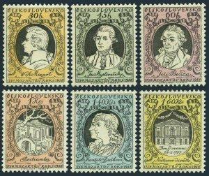 Czechoslovakia 750-755,MNH.Michel 968-973. Wolfgang Amadeus Mozart,200,1956.