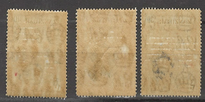 COLLECTION LOT # 3022 ZANZIBAR #214-6 MH 1936 CV+$24 2 SCAN