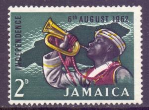 Jamaica Scott 181 - SG193, 1962 Independence 2d MH*