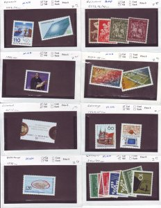 Z630 JL stamps germany mnh on sales cards, check scan all checked sound