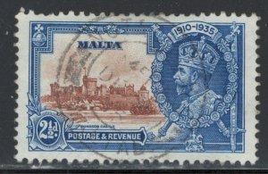 Malta 1935 Silver Jubillee 2 1/2p Scott # 185 Used