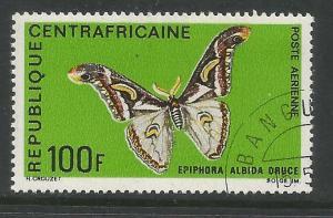 CENTRAL AFRICAN REPUBLIC  C70  USED, EPIPHORA ALBIDA DRUCE