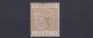 GIBRALTAR  1889    SG  30   1P BISTRE      MH   CAT £75