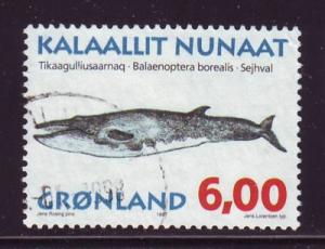 Greenland Sc 321 1997  6 kr whale stamp used