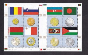 United Nations Vienna  #459  MNH  2010  flags and coins  sheet