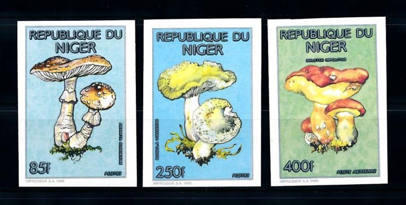 [95567] Niger 1990 (1991) Mushrooms Pilze Champignons Imperf. MNH