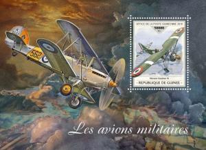 Z08 GU18418b GUINEA (Guinee) 2018 Military planes MNH ** Postfrisch