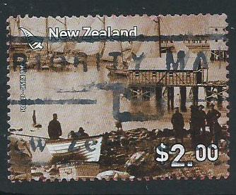 New Zealand SG 2903  used  red envelope stain on reverse