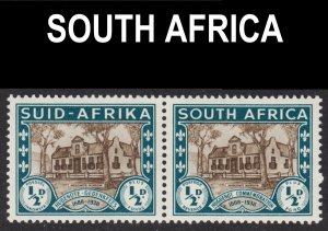 South Africa Scott B9 F to VF mint OG LH pair.