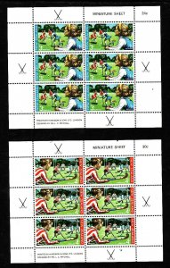 New Zealand-Sc#B82a-83a-two Unused NH sheets-Sports-Field Hockey-1971-