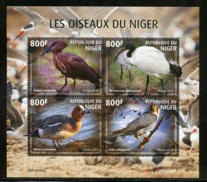 NIGER 2019   BIRDS OF NIGER SHEET MINT NH
