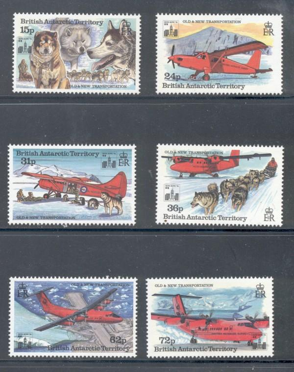 British Antarctic Terr Sc 224-9 1994 Planes stamp set NH
