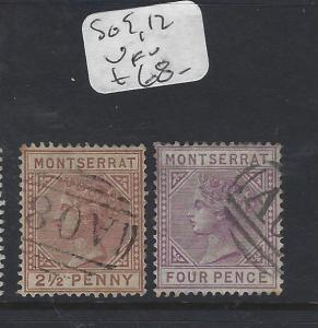 MONTSERRAT  (P2912B)  QV  SG 9, 12   VFU