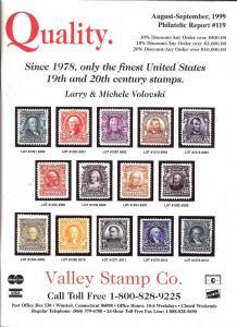 Philatelic Report No. 119, Valley 119