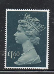 Great Britain Sc MH174 1987 £1.60 QE II Machin Head stamp mint NH