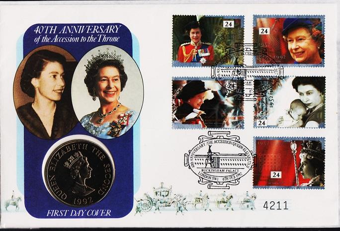 Great Britain.1992 FDC S.G.1602/1606. Fine Used