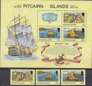Pitcairn Islands - 1978 Bounty Day Sc# 174/176a - MNH (50N)