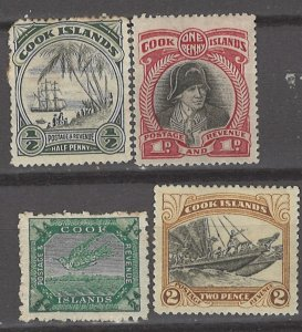 COLLECTION LOT # 3147 COOK ISLANDS 4 MH STAMPS 1902+ CV+$12.50