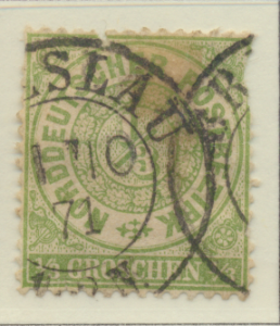North German Confederation Stamp Scott #14, Used, Faulty - Free U.S. Shipping...