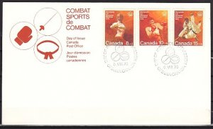 Canada, Scott cat. B7-B9. Montreal Olympics. First day cover. ^