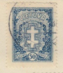 Lithuania Litauen Lituanie Lituania 1929 30c Used A8P11F129