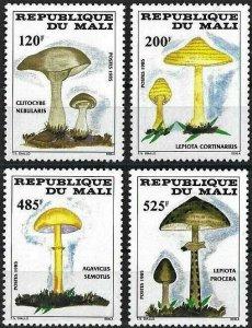 1985 Mali Mushrooms, Funghi, complete set VF/MNH! CAT 22$ LOOK!