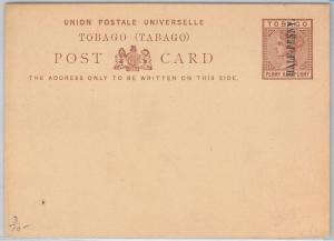 TOBAGO -  POSTAL STATIONERY CARD: Higgings & Gage # 3