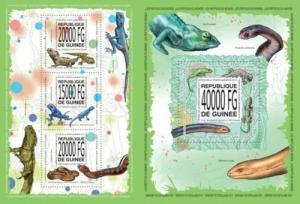 Guinea 2013 reptiles snakes klb+s/s MNH