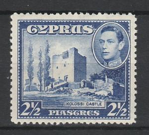 CYPRUS 1938 KGVI CASTLE 21/2PI