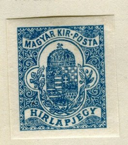 HUNGARY 1900 early Newspaper Imperf issue fine mint hinged value