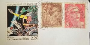 France 3 very nice used stamps on paper