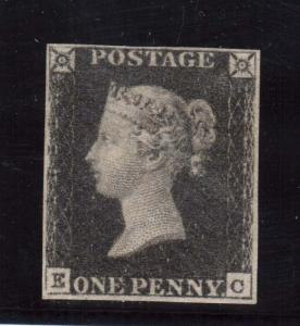 Great Britain #1 VF Mint With Four Margins