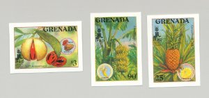 Grenada #1648-1650 Food, Fruit, Agriculture 3v Imperf Proofs